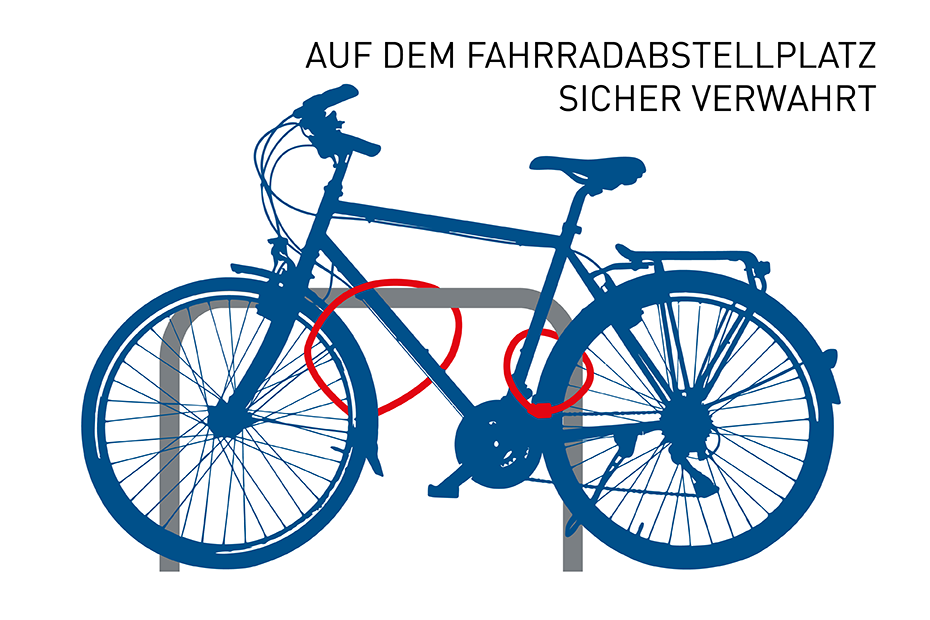 Grafik Fahrrad Fahrradabstellplatz abschliessen