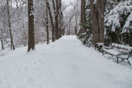 Radfahren Schnee